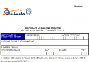 non impugnabile certificato carichi pendenti