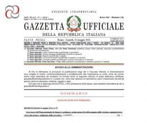 pubblicazione decreto semplificazioni