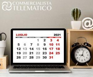 scadenze fiscali luglio 2021